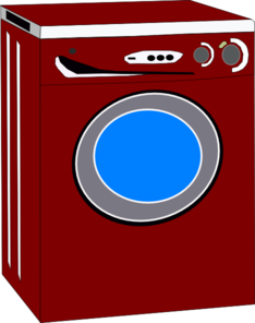 Dryer clipart. Red clip art at
