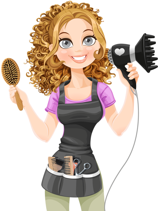 Hairdresser clipart item. Personnages illustration individu personne