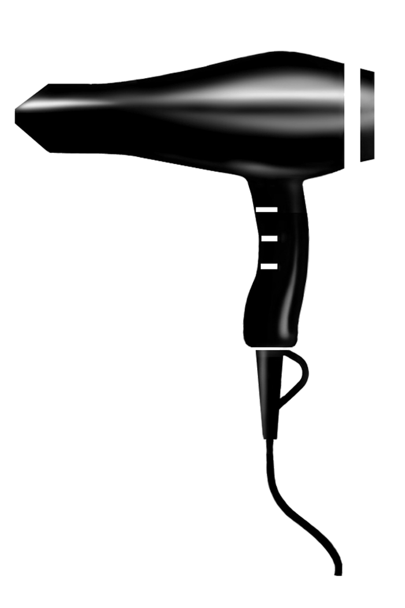 Blow silhouette at getdrawings. Hair dryer and scissors png png free
