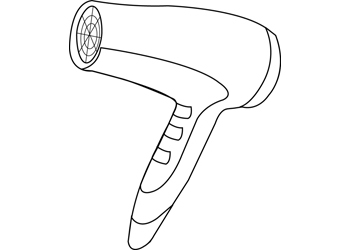 Dryer clipart hair dryer. Art activities b w