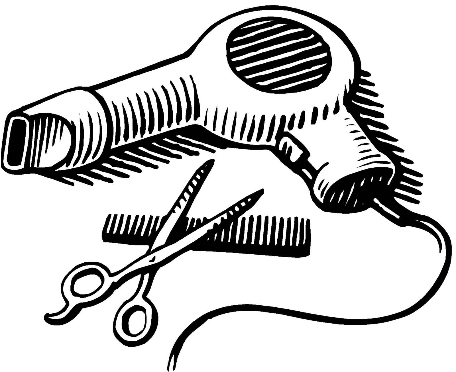 Dryer clipart hair dryer. Blow and scissors png
