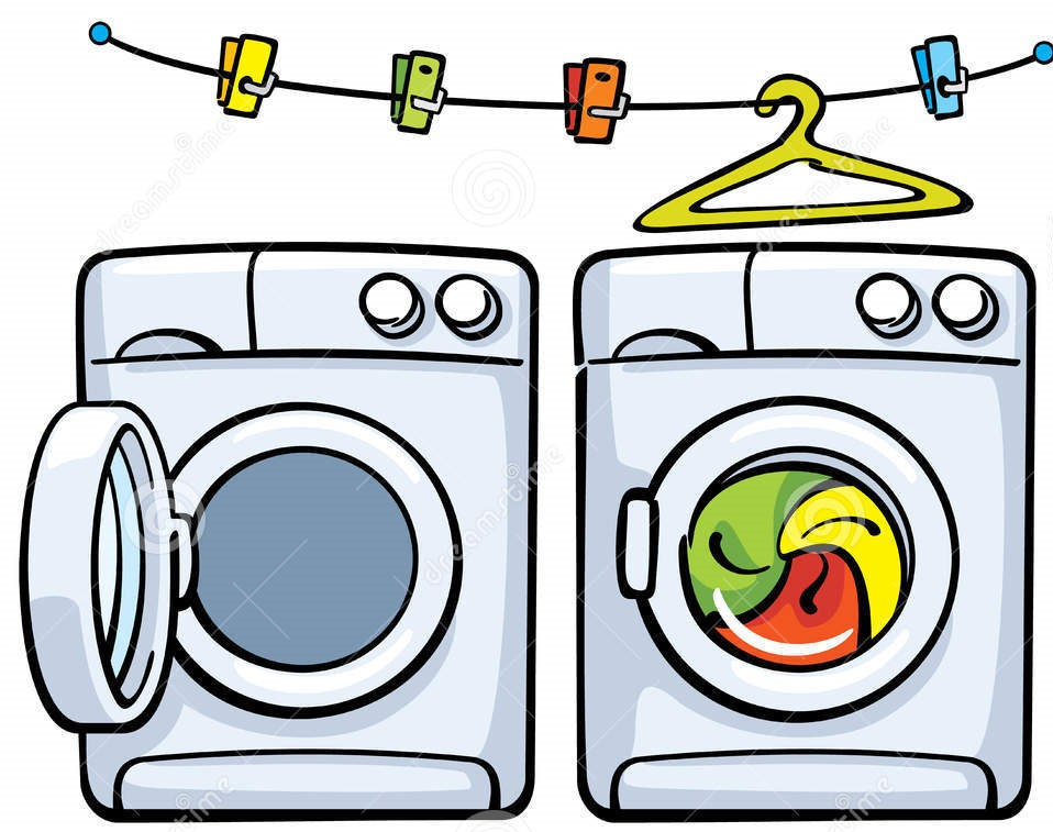 Dryer clipart washing machine. Pencil and in color