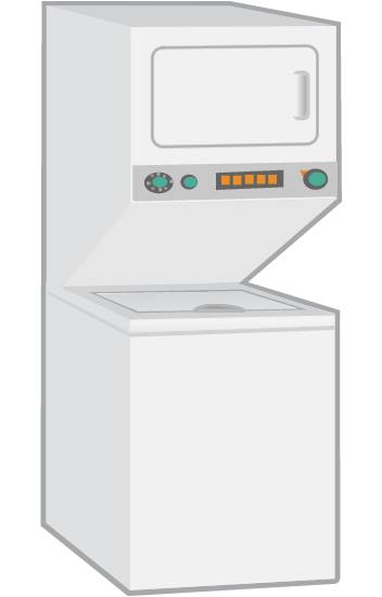 Dryer drawing washer. Fex cs frigidaire combo