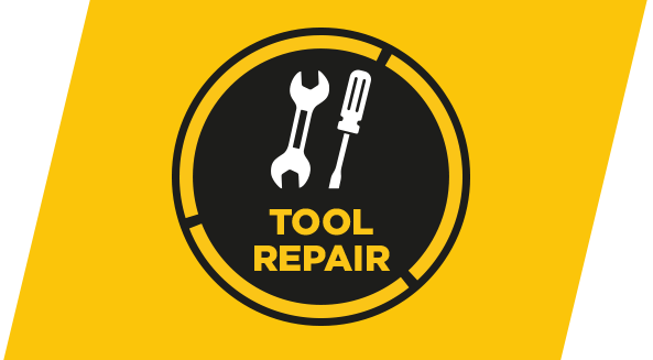 Taping tool and servicing. Drywall clip repair vector stock