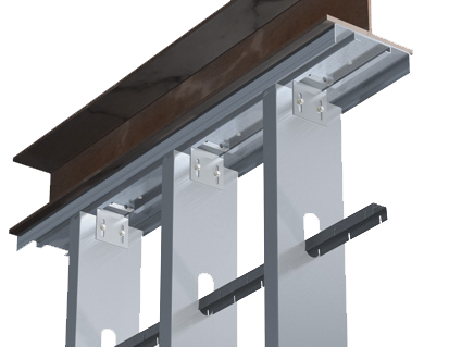 Drywall clip steel beam. Tsn product drifttrak dtsl