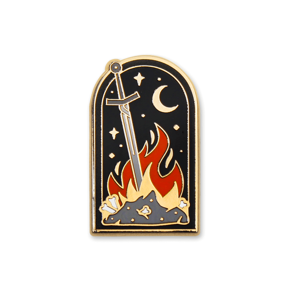 Ds bonfire png. Dark souls enamel pin