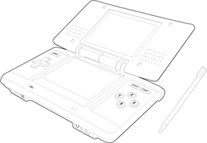 Ds drawing. Nintendo logo vector eps