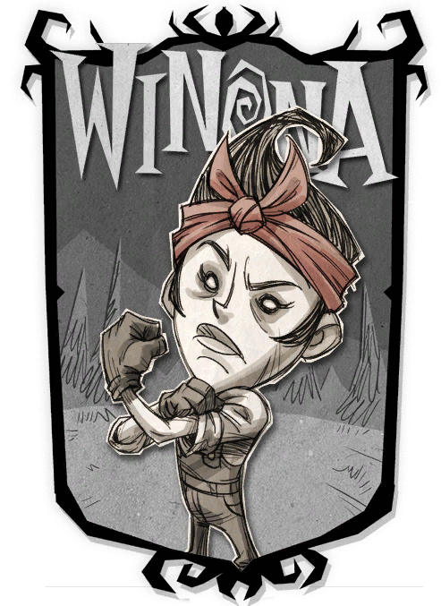 T drawing poster. Winona don starve game