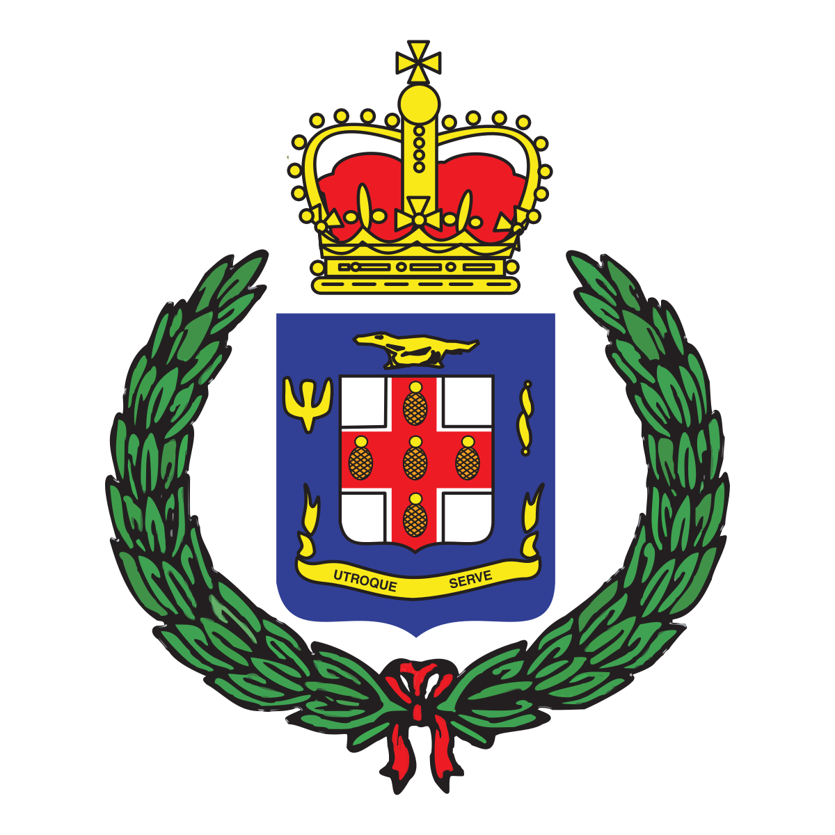 Dsp coat of arms vector png. Jamaica constabulary force wikipedia