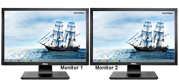 Dual monitor png. Desktop background switcher software