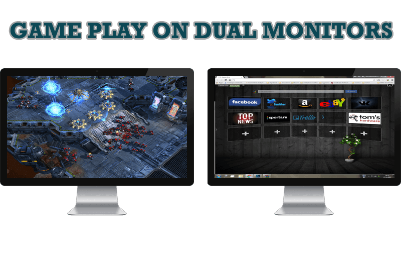 Dual monitor png. Advanced display management of