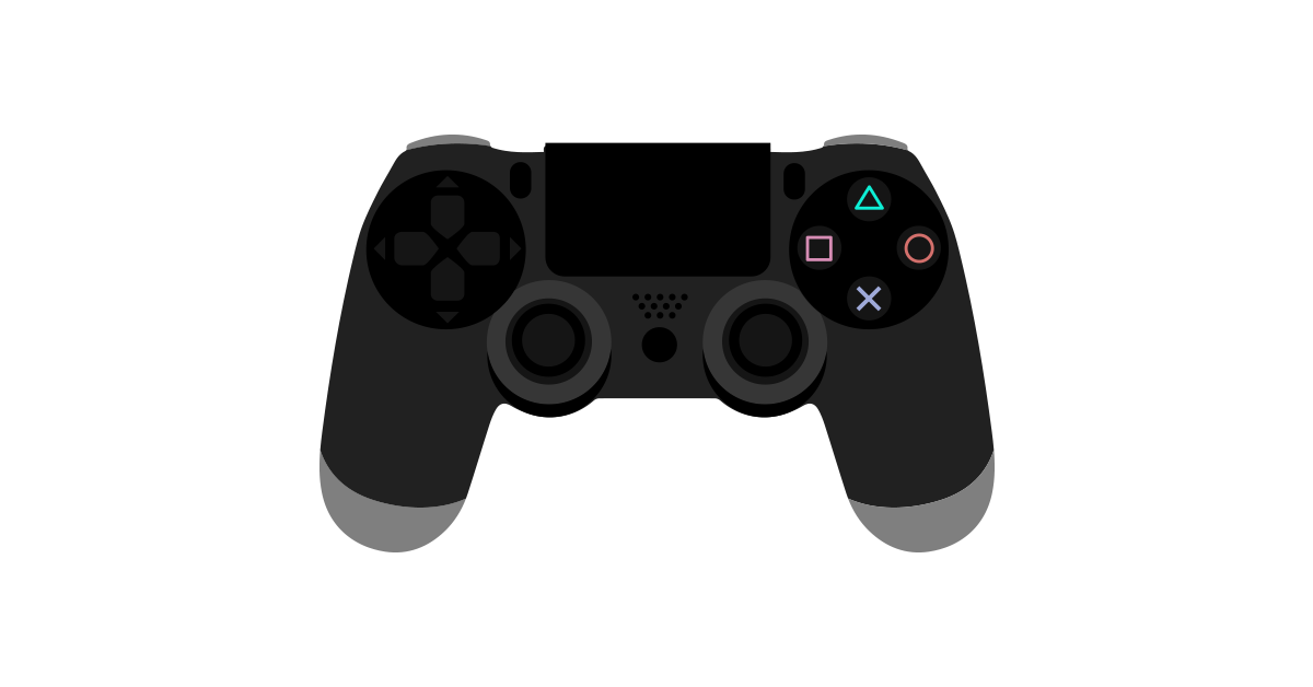 Dualshock 4 buttons png. Playstation controller vector and