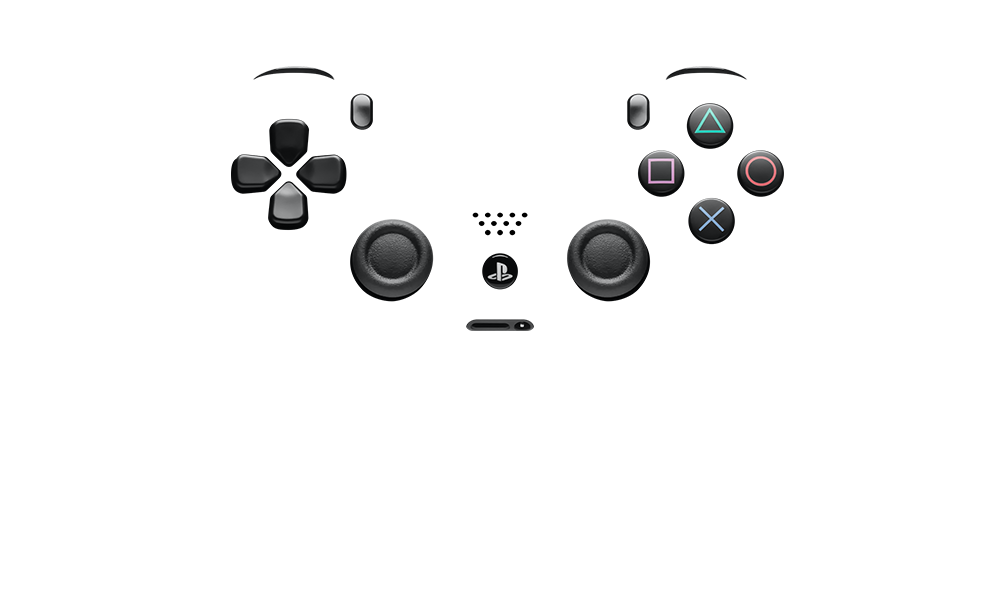 Dualshock 4 buttons png. Custom ps controllers colorware