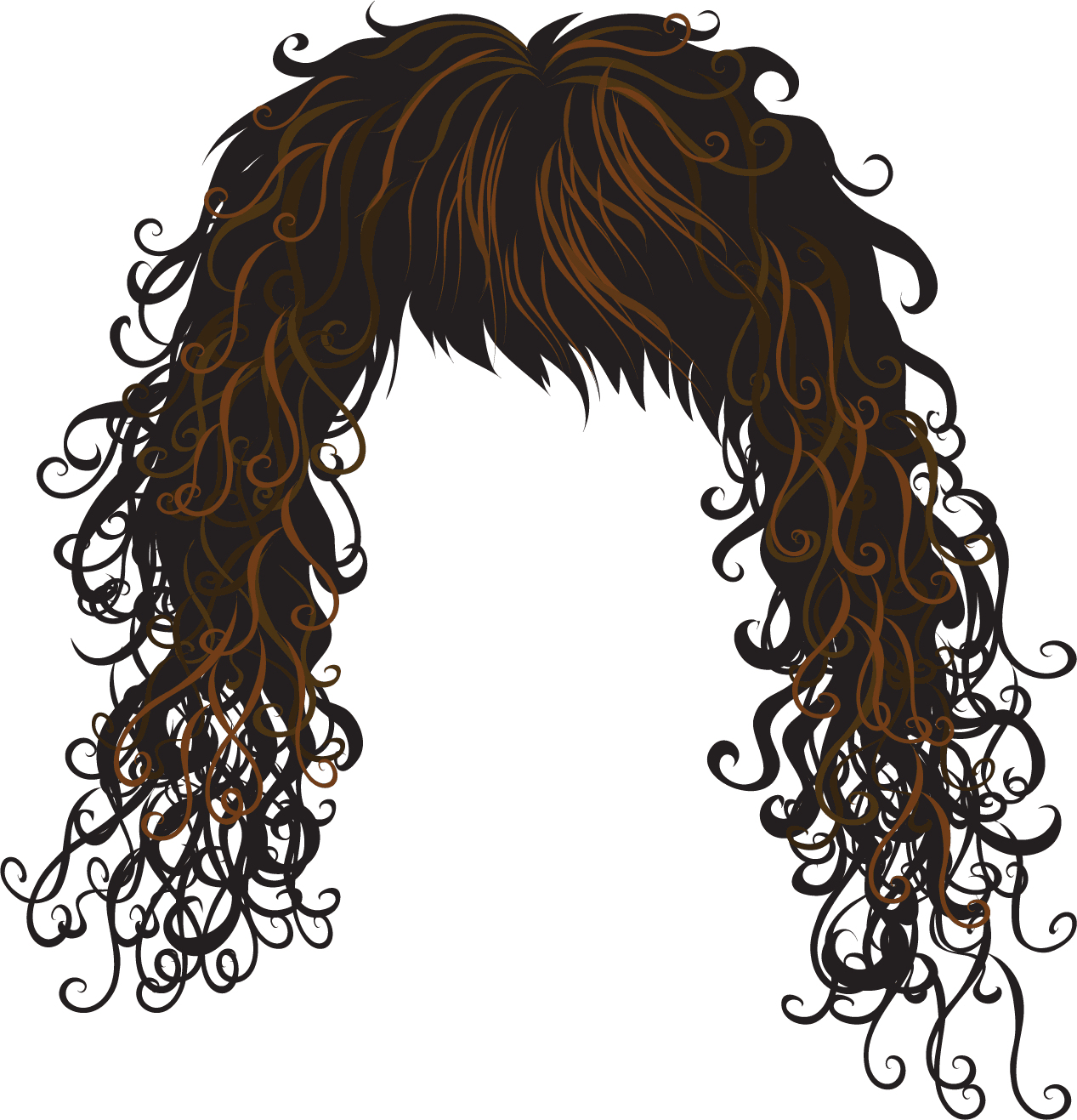 Duck clip curly hair. Haircut royalty free download