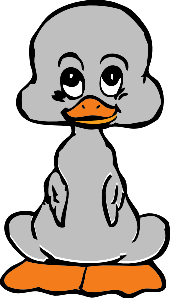 Duck clip duckling. Png black and