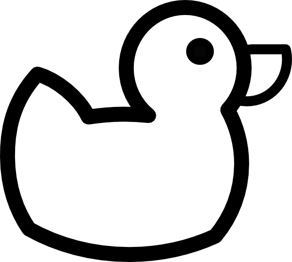 Black and white images. Duck clip printable transparent download