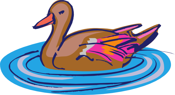 Duck clip water clipart. Brown and pink in