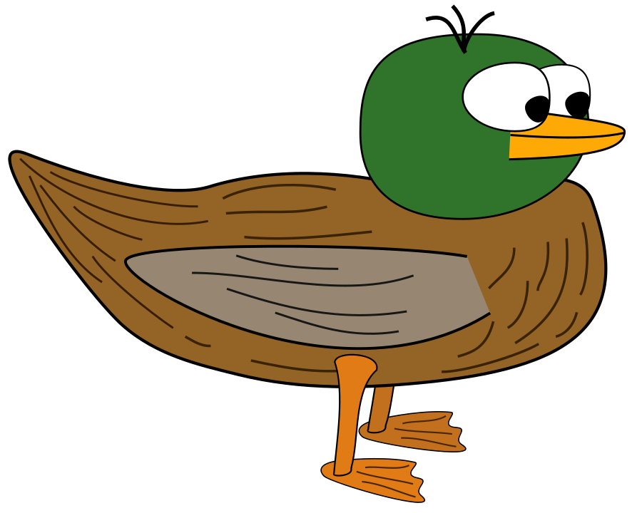 Sad clipart duck. Free outline download clip