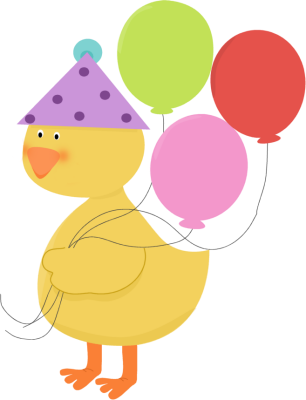 Duck clipart birthday. Party clip art image