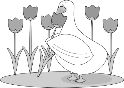 Duck clipart black and white. Clip art images smelling