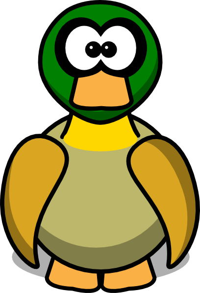 Duck clipart cartoon duck. Free picture of a