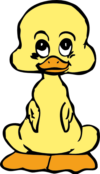 Sad clipart duck. Free cartoon pictures for