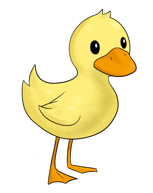 duckling clipart simple