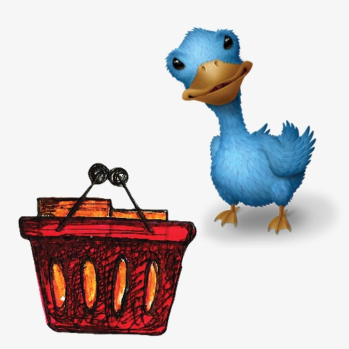 Cartoon ignorant blue png. Duckling clipart red duck picture freeuse download