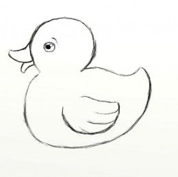 Duckling clipart simple. How to draw a