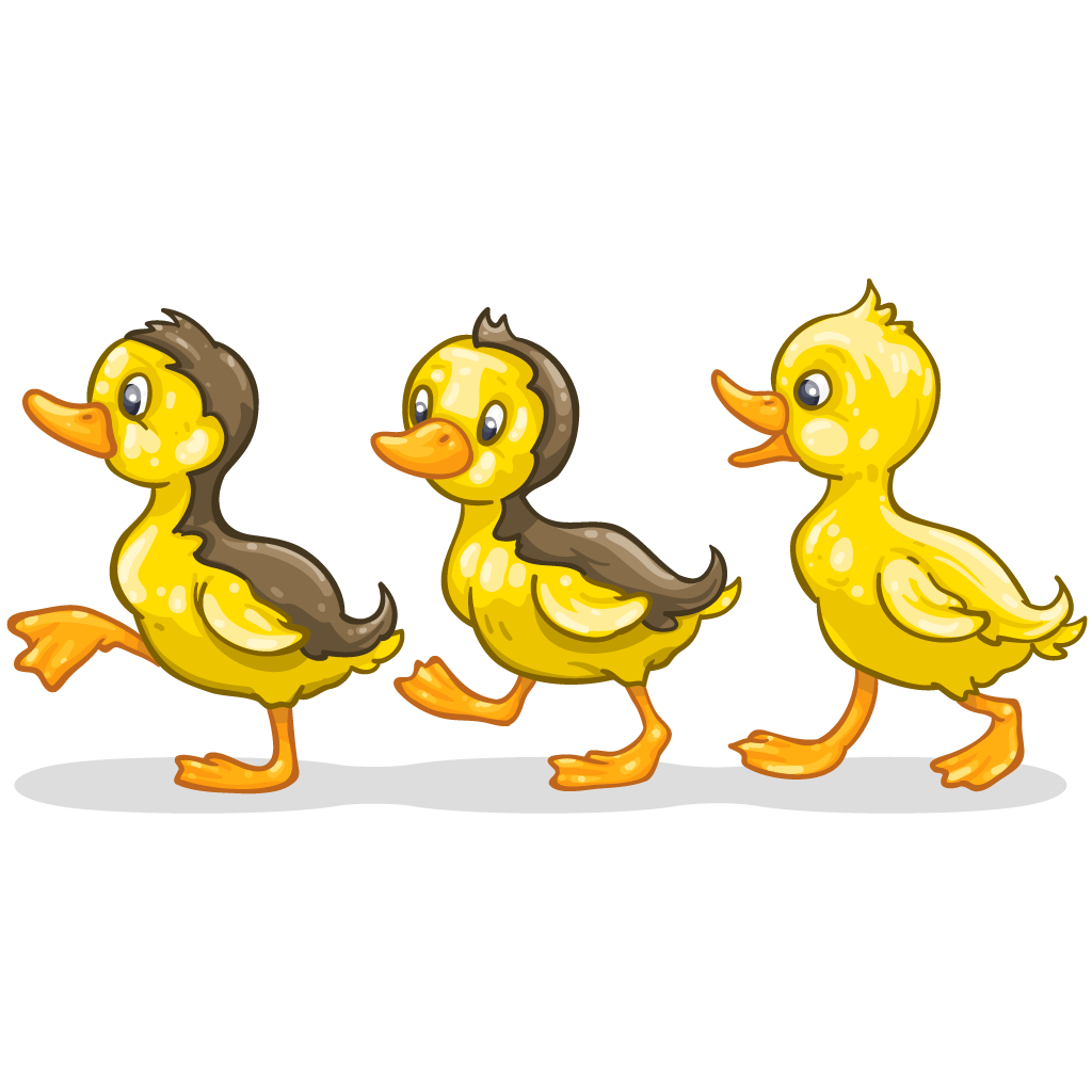 Duckling clipart yellow item. Detail ducklings itembrowser
