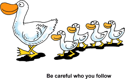 Row clipart. Image ducks in a