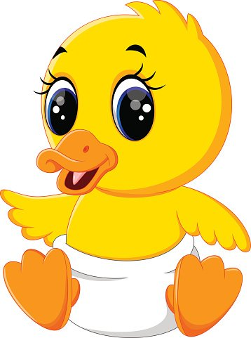 Cute duck at getdrawings. Ducks clipart baby goose banner library stock