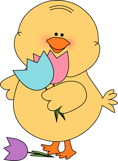 Duck clip spring. Chick clipart