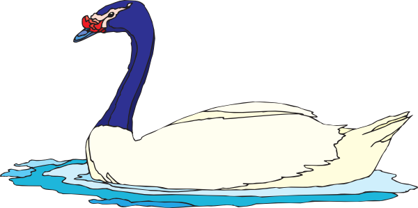 Swan clipart swimming. Goose clip art library