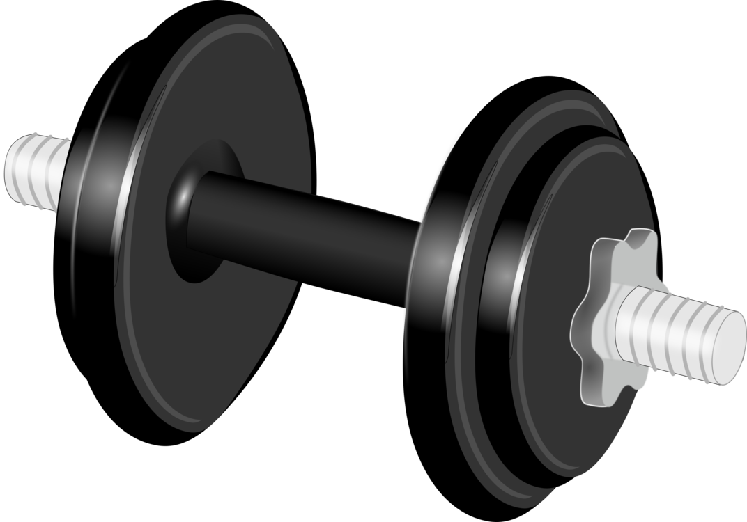 Dumbbell clipart. Weight training physical fitness