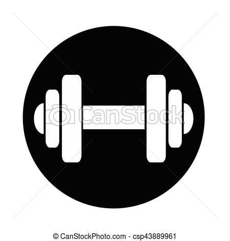 Icon. Dumbbell clipart png black and white stock