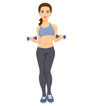 Dumbbell clipart excersie. Free fitness and exercise