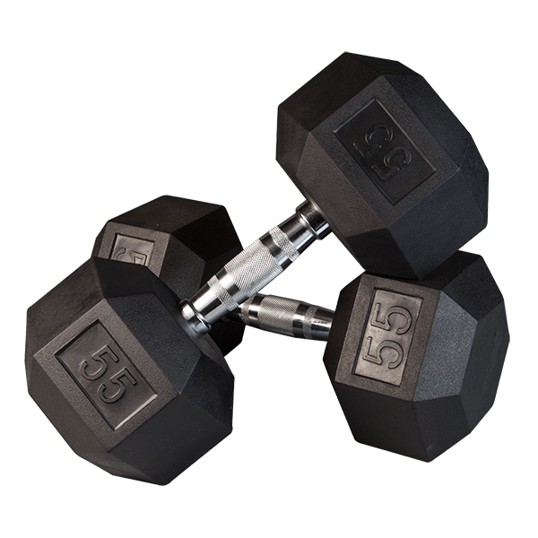 Dumbbell clipart excersise. Dumbbells rubber hex free