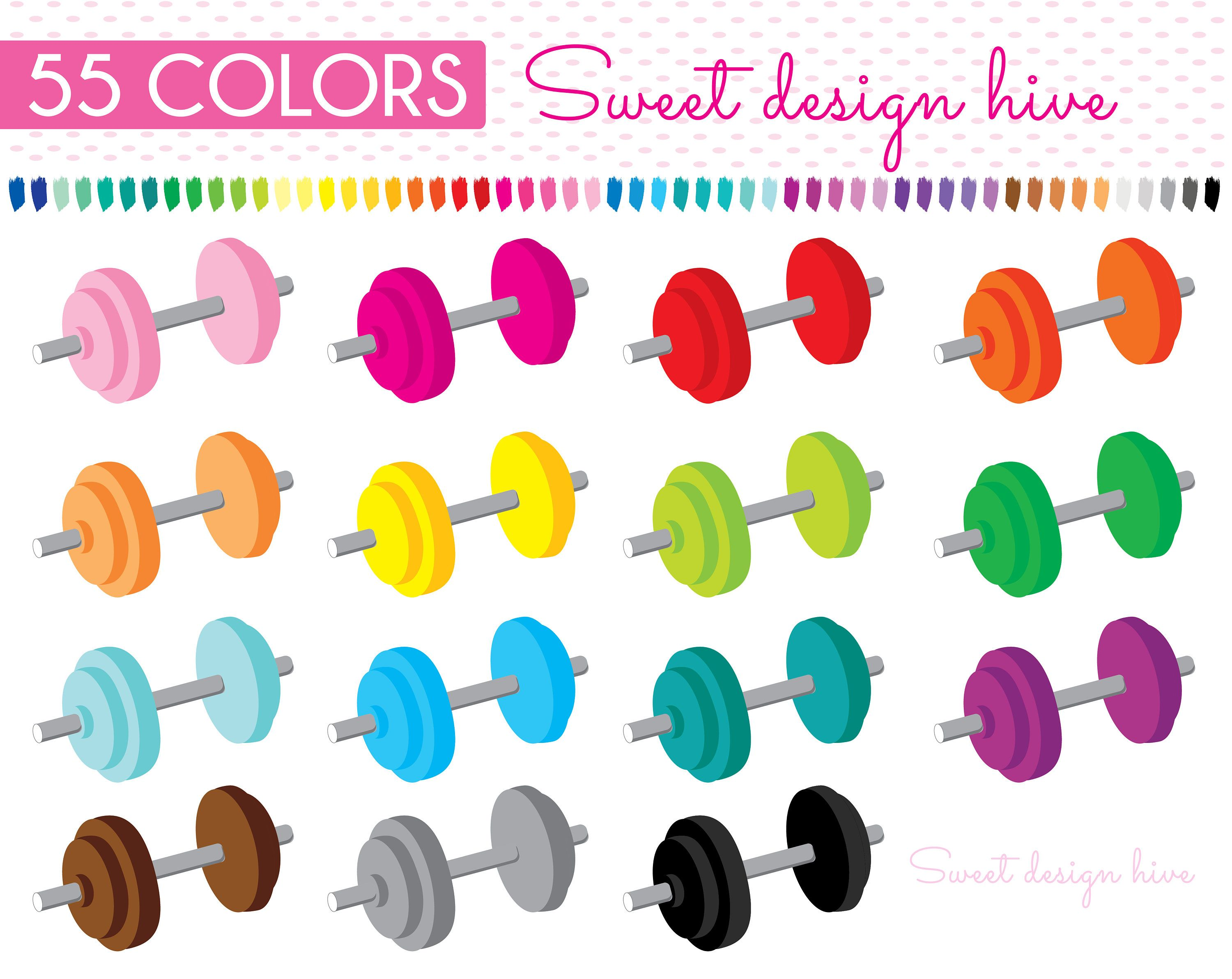 Dumbbell clipart gym tool. Weights fitness sports workout