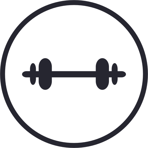 Dumbbell clipart gym tool. Icon with png and