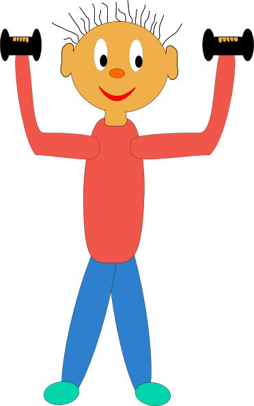Workout clipart strong. Free pictures of kids