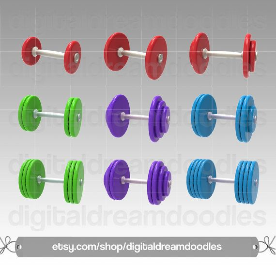 Dumbbell clipart workout gear. Barbell exercise items similar