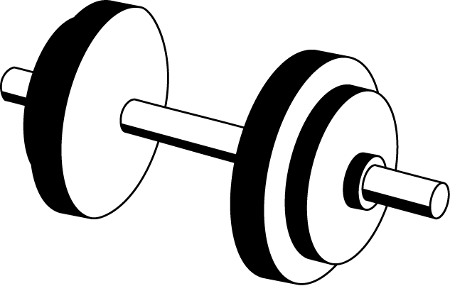 Dumbbell clipart jpg library