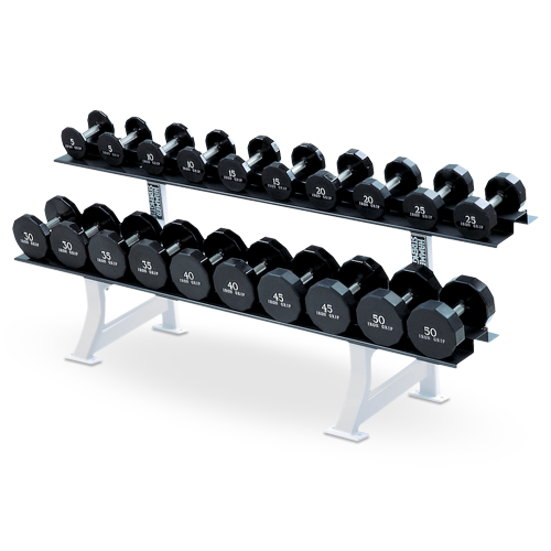 Dumbbell rack png. Two tier view specifications