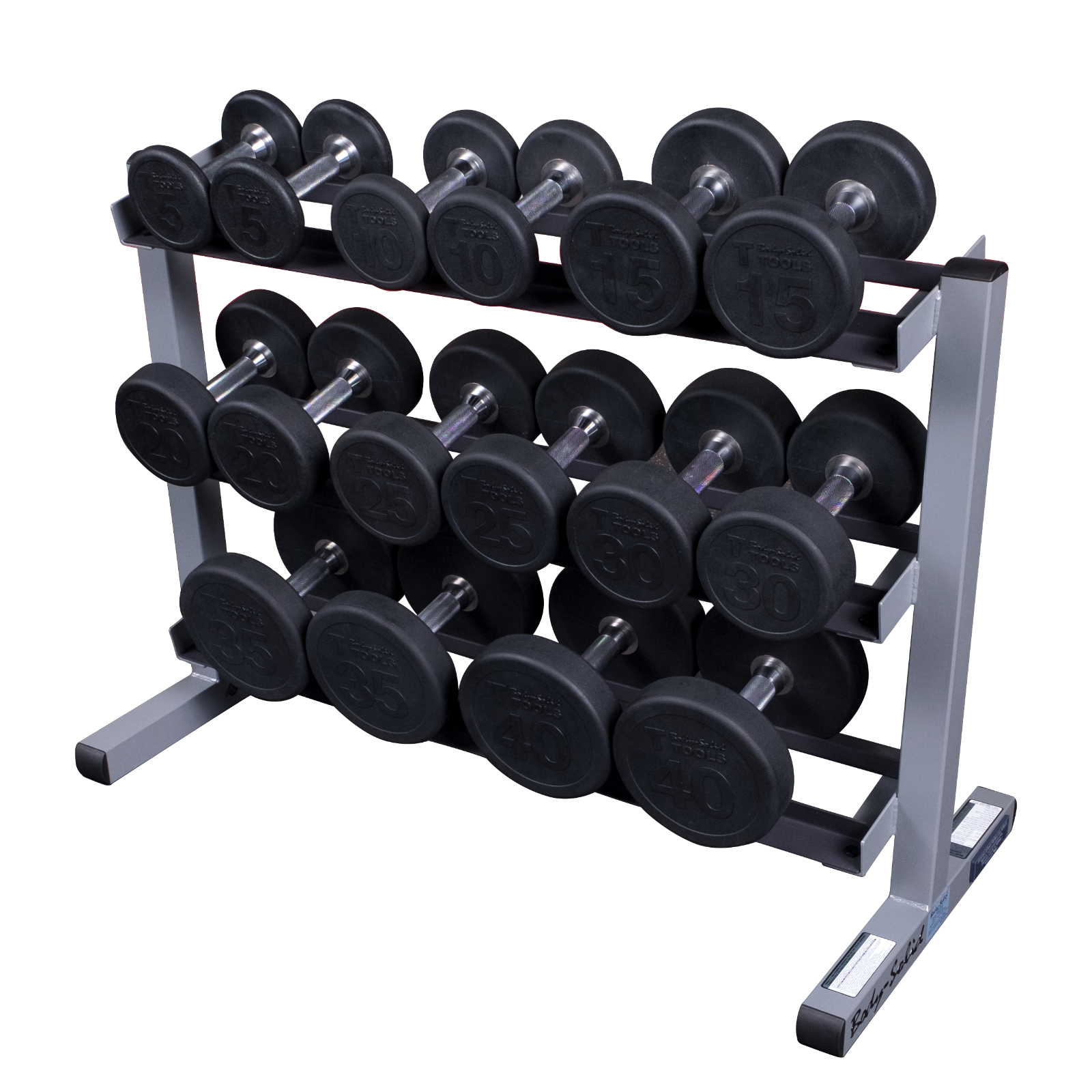 Dumbbell rack png. Body solid tier horizontal