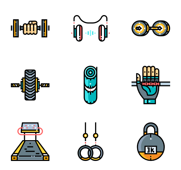 Dumbbell vector png. Icons free gym equipment
