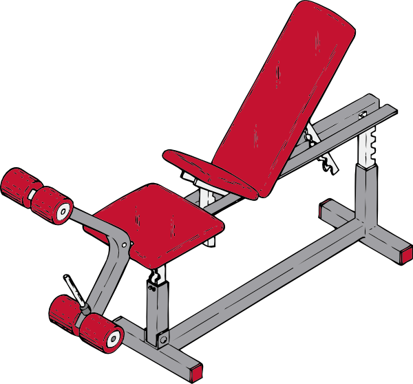 Workout clipart sport fitness. Exercise bench clip art