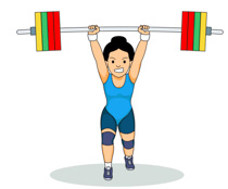 Weights clipart strenght. Sports free weightlifting to