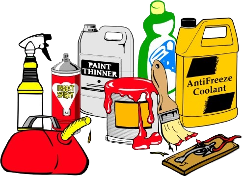 Chemicals clipart household product. Recycle reuse paints city
