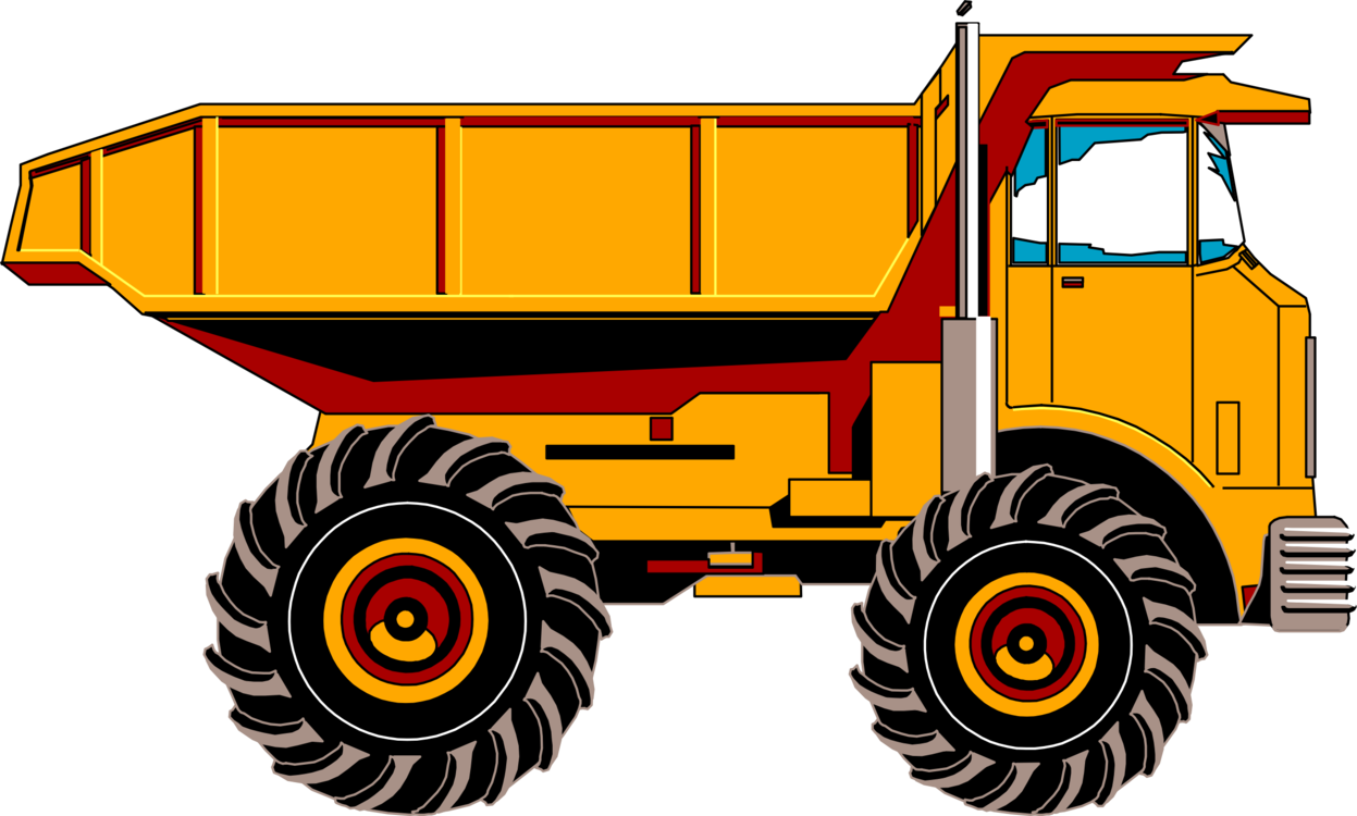 Pickup clipart yellow truck. Car dump garbage free